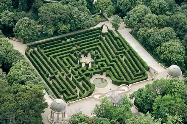 labyrinthe d'horta Barcelone en famille