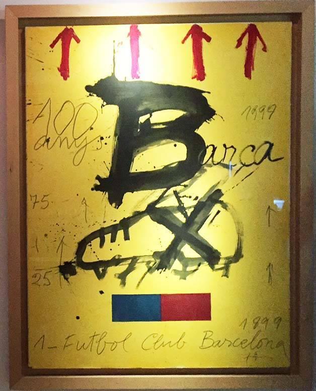 Antoni Tapies affiche Barça