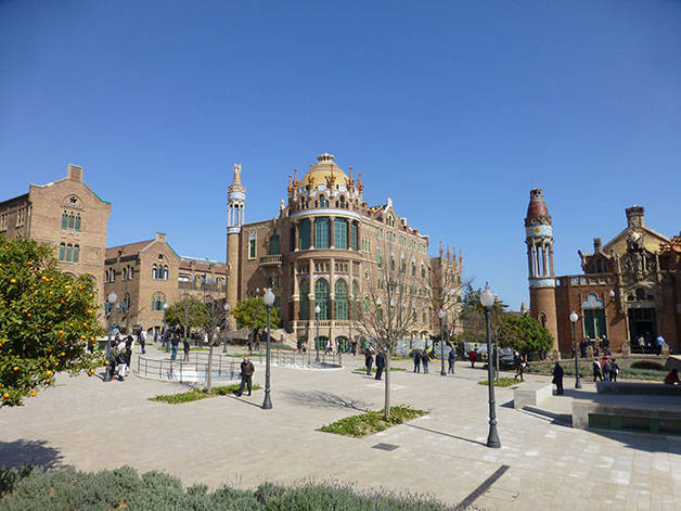 hôpital sant pau architecture à Barcelone