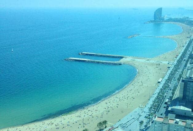 transfert Barcelone plage de Barcelone