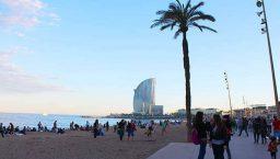 saison et plage de barcelone