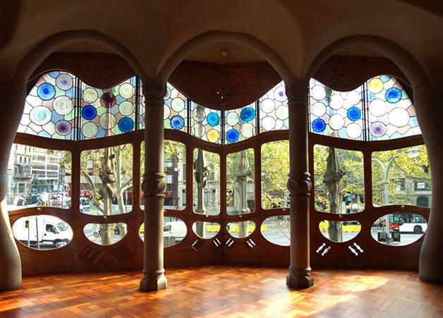 verrière casa batllo architecture à Barcelone