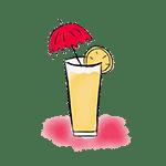 dessin d'un cocktail de fruits
