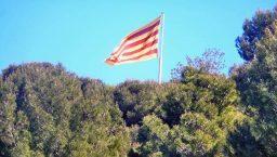 drapeau catalan à Montjuic