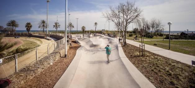 skateboard a barcelone
