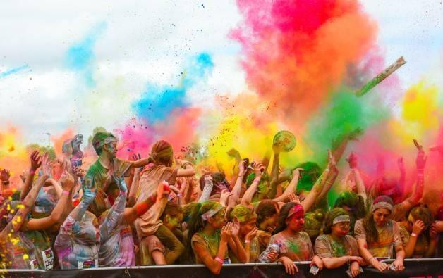 The Color Run course Barcelone