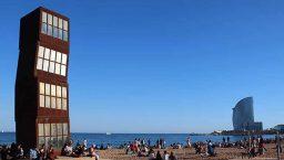 une journée à barcelone: la plage