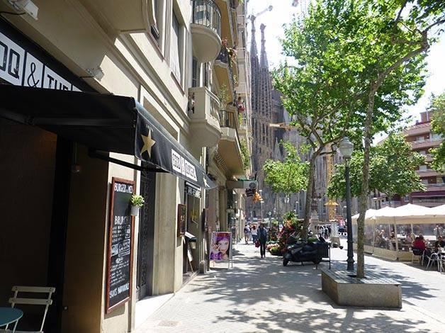 Restaurant pproche de la Sagrada Familia le coq and the burg rue