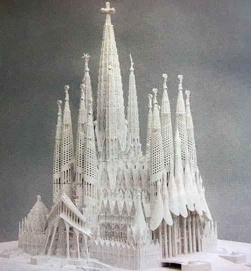 sagrada familia histoire maquette