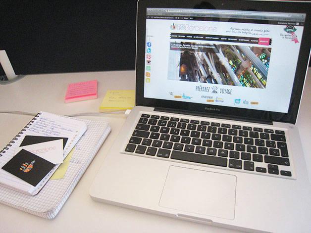 stage: ordinateur et prise de notes
