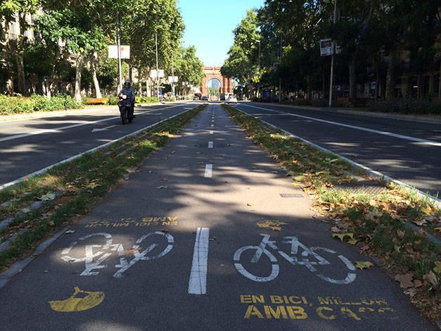 pistes cyclables à Barcelone