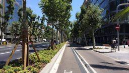 pistes cyclables diagonal