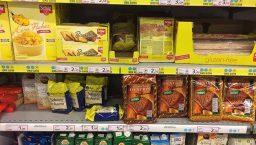 produits sans gluten en supermarché