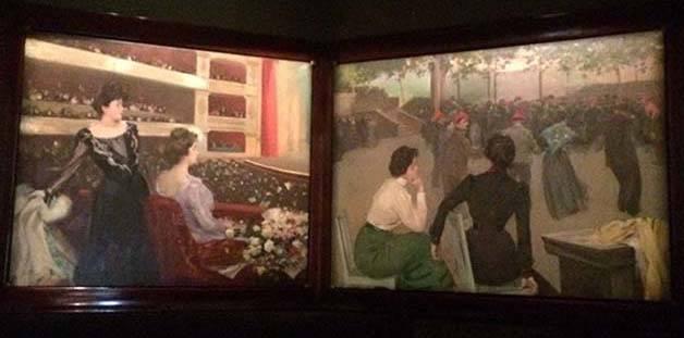 viste insolite à Barcelone: liceu-peintures-casas