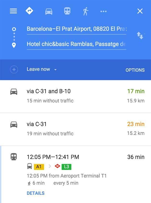 aeroport-hôtel-itinéraire
