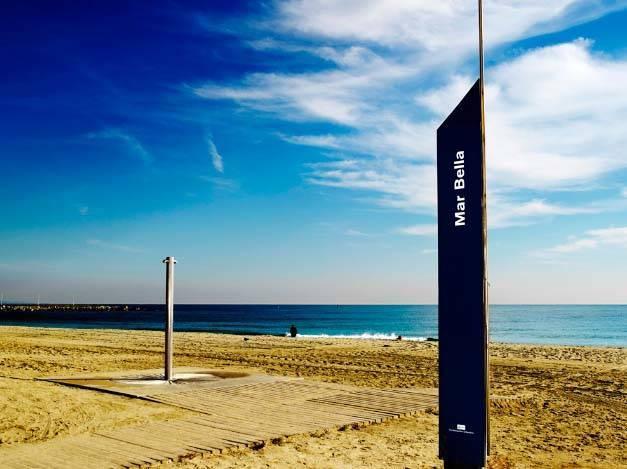 plage de Mar-bella à Barcelone