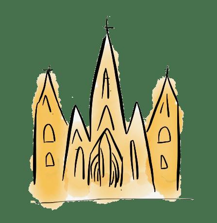 dessin cathédrale