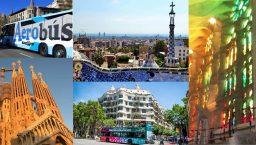 photos de Sagrada Familia, bus touristique, aerobus, parc Güell