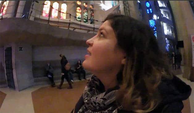 un jour à Barcelone: Marine Baousson à la Sagrada Familia