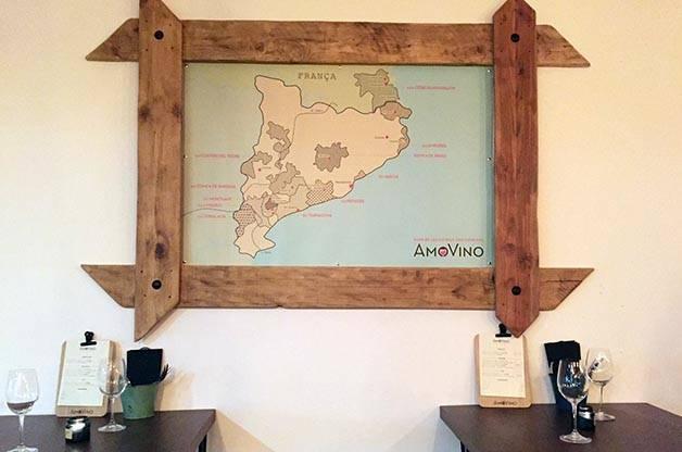 Amovino: carte des vins de la région