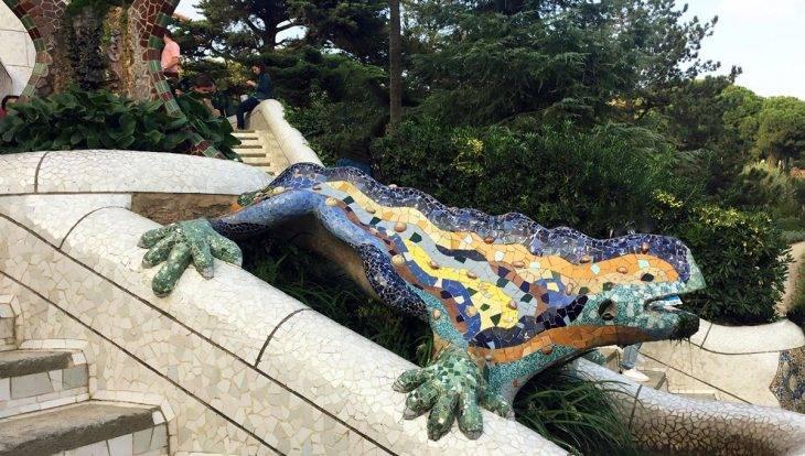visite guidée parc Güell salamandre Gaudí