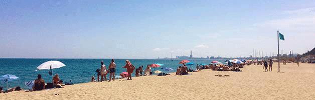 plages autour de Barcelone Montgat