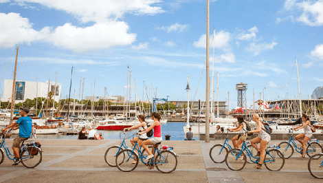 visite guidée à vélo près du port