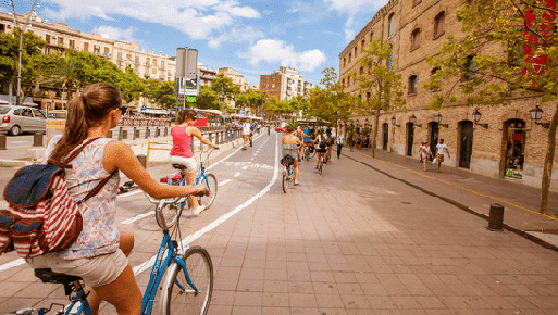visite guidée à vélo: longer le port