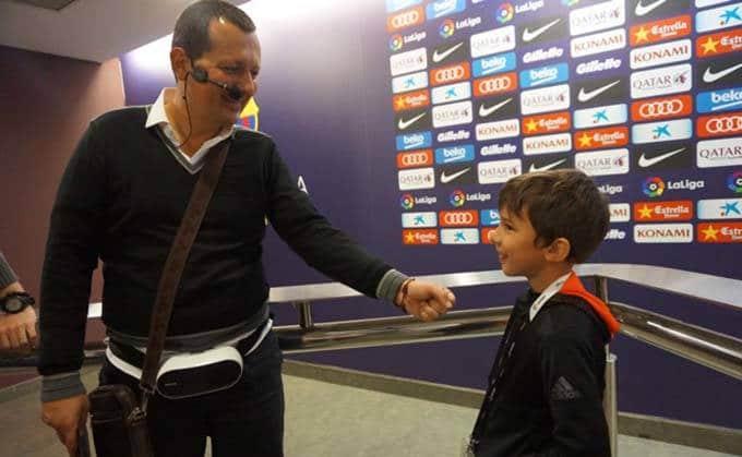 Barcelone en groupe Camp Nou visite avec Olivier