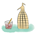 dessin d'un syphon pour vermouth