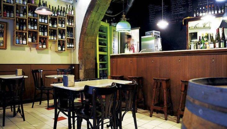 Bar à vin Anima de Vi salle voûtée
