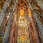 Barcelone_ intérieur de la Sagrada Familia