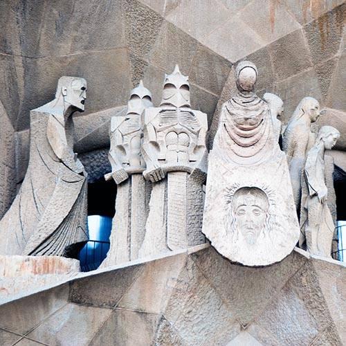 Sagrada familia scupture de Subirach façade de la passion