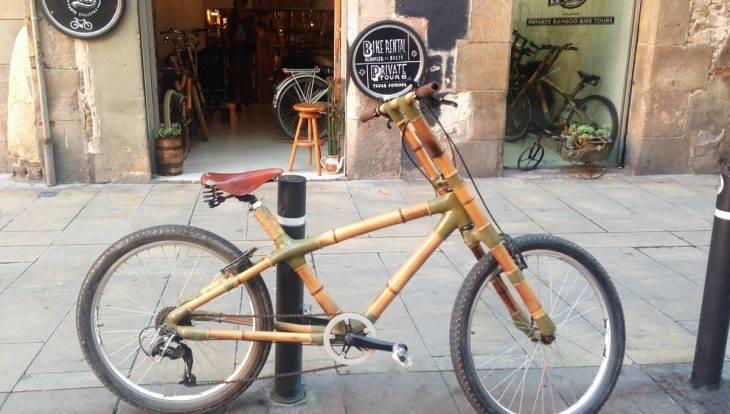 visite guidée street art à vélo, vélo en bambou