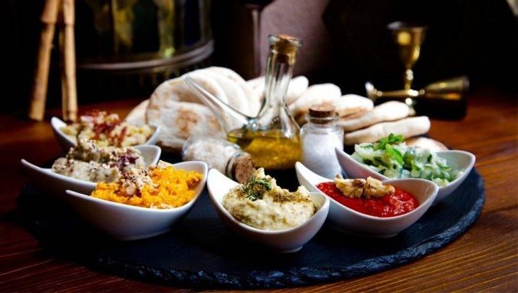 Restaurant romantique Ziryab - dips