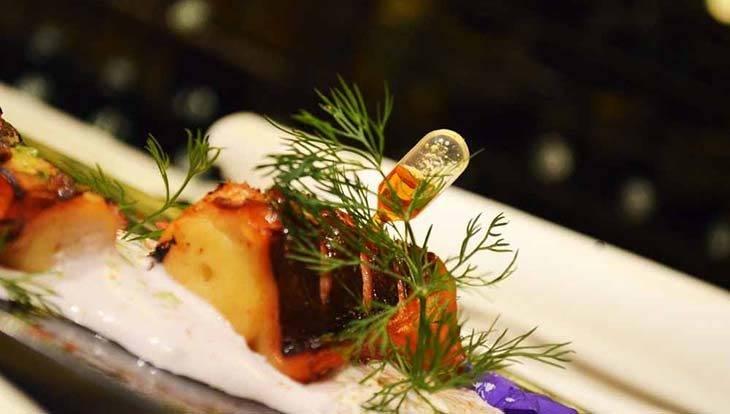 restaurant romantique arcano: poulpe
