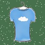 dessin d'un tee-shirt bleu