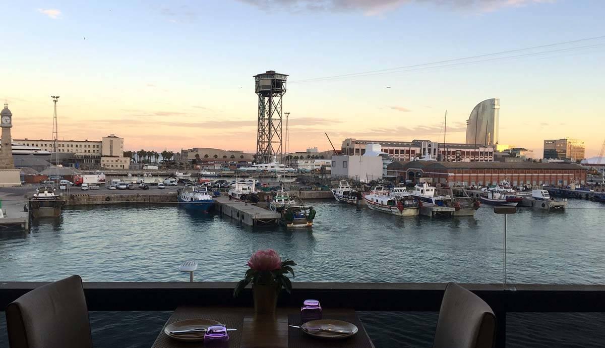 vue depuis le bar marítimo au maremagnum