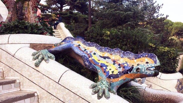 Visiter Barcelone: la salamandre du Parc Güell