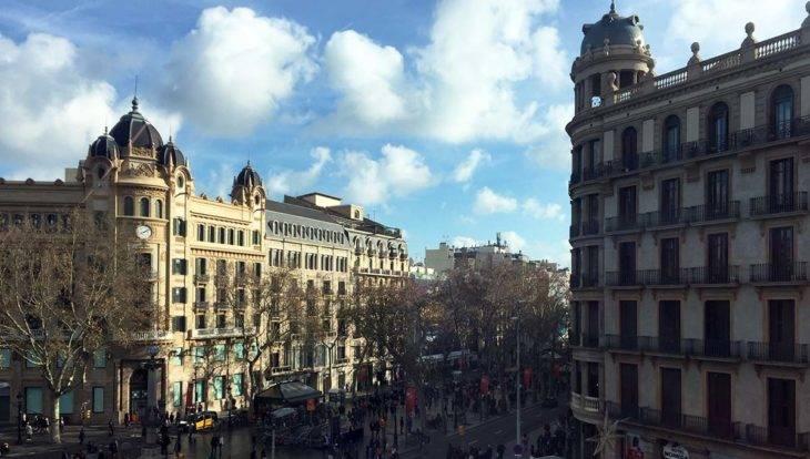 ramblas depuis la Plaça Catalunya