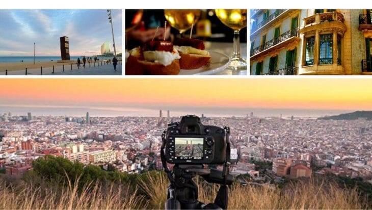 visiter-barcelone en 2,3,4,jours, 4 photos différentes