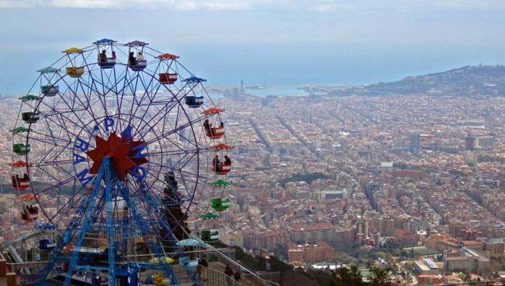week-end à Barcelone vue depuis le Tibidabo