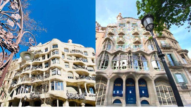 casa milà et casa Batlló de Gaudí
